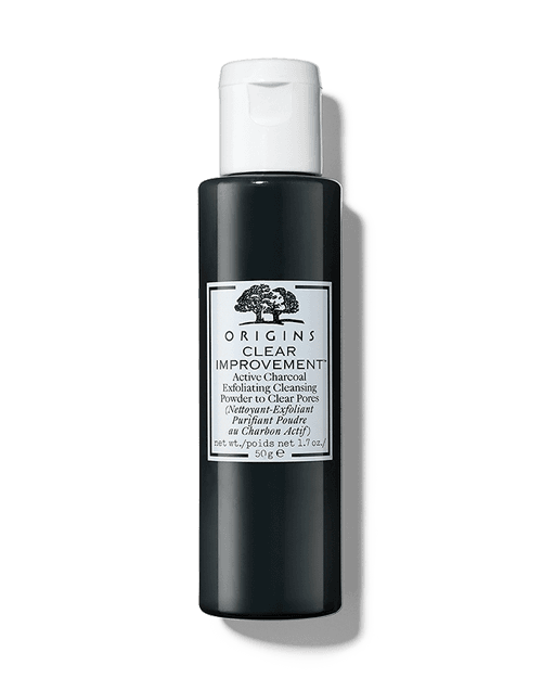 clear improvement active charcoal exfoliating cleansing powder to