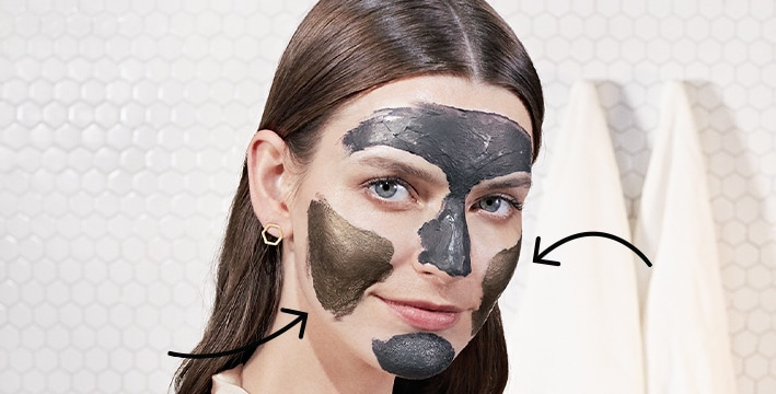 woman with mask on face